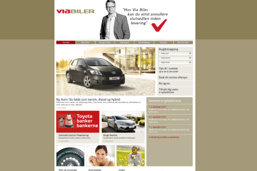 Via Biler og Toyota (2012-2013)